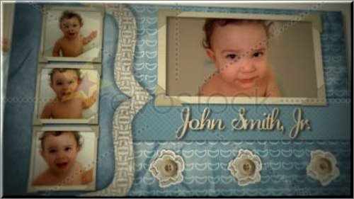 RevoStock Baby Boy Scrapbook «Детский альбом» — After Effects Project