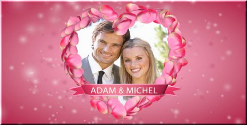 Videohive Heart of petals - Wedding opener After Effects Project