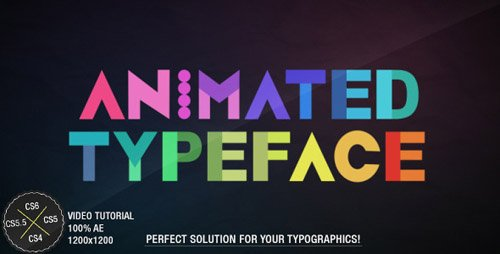 Animated Typeface - Project for After Effects (VideoHive)