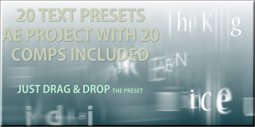 Text Presets - 20 text animation presets - Projects for After Effects (VideoHive)
