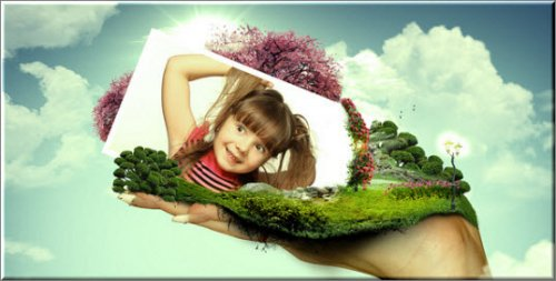 Videohive World On Hands After Effect Project