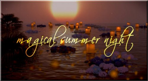 Videohive - Photo Gallery on a Magical Summer Night