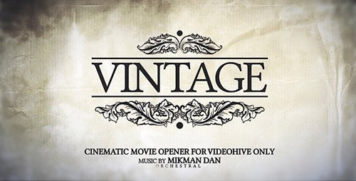 Vintage Opener - Project for After Effects (Videohive)