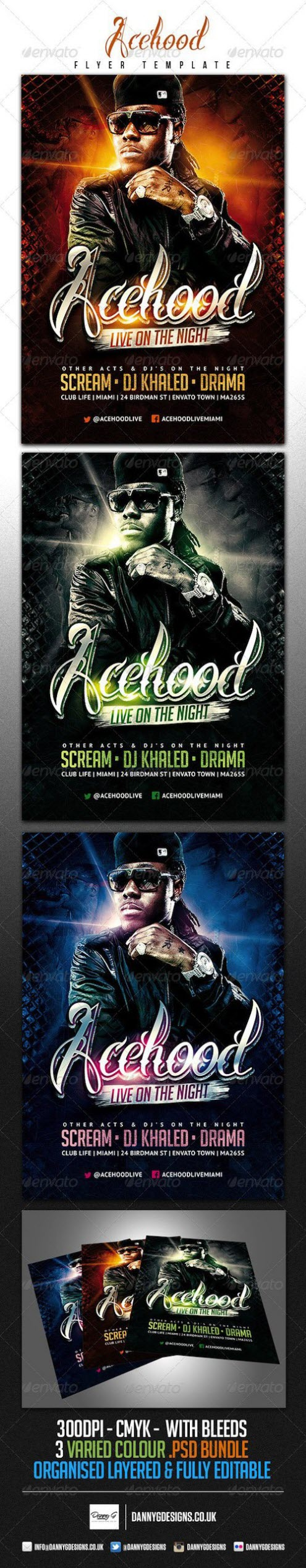 GraphicRiver - Acehood Rap Hip Hop flyer