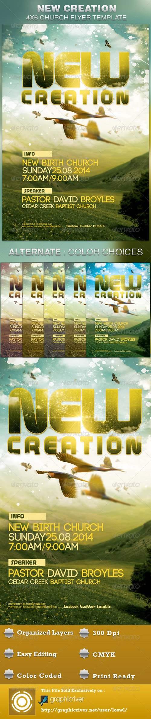 GraphicRiver - New Creation Church Flyer Template