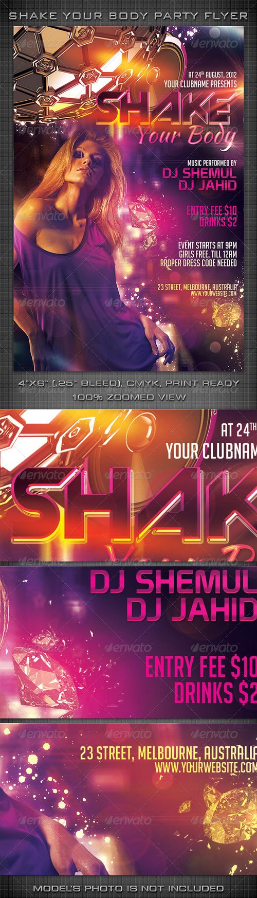 GraphicRiver - Shake Your Body Party Flyer