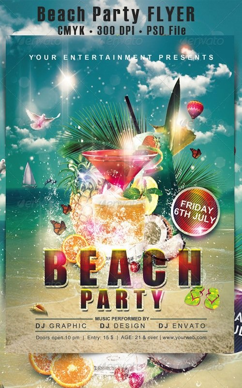 GraphicRiver - Beach Party Flyer