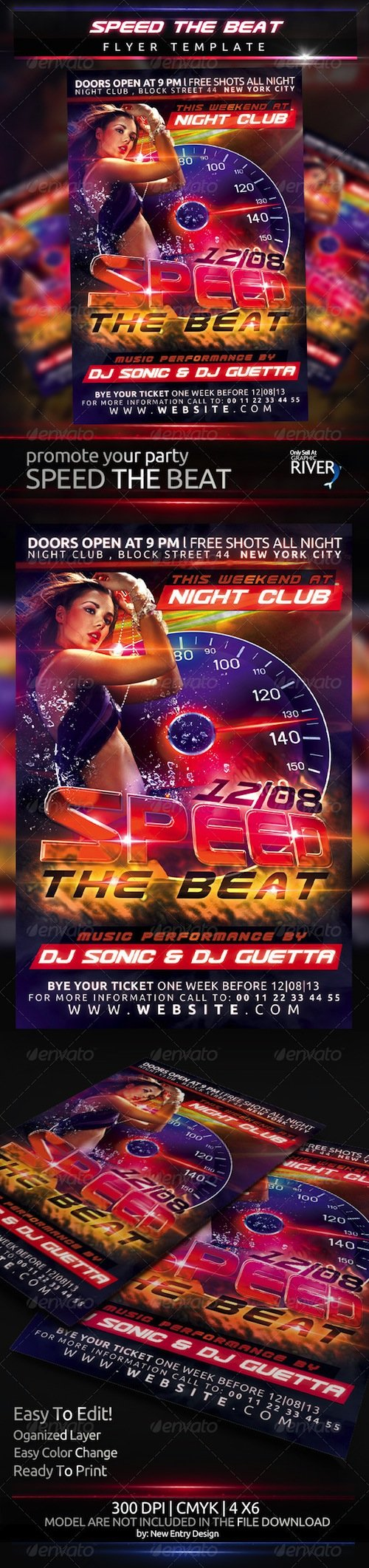 GraphicRiver - Speed The Beat Flyer Template