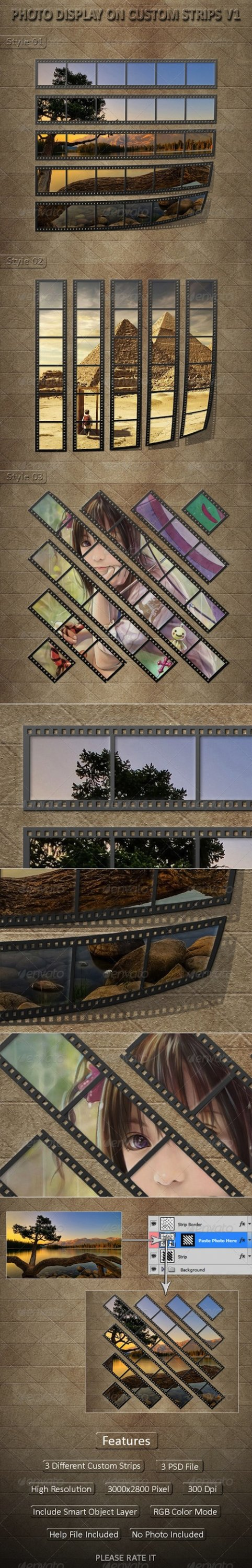 GraphicRiver - Photo Display on Custom Strips V1
