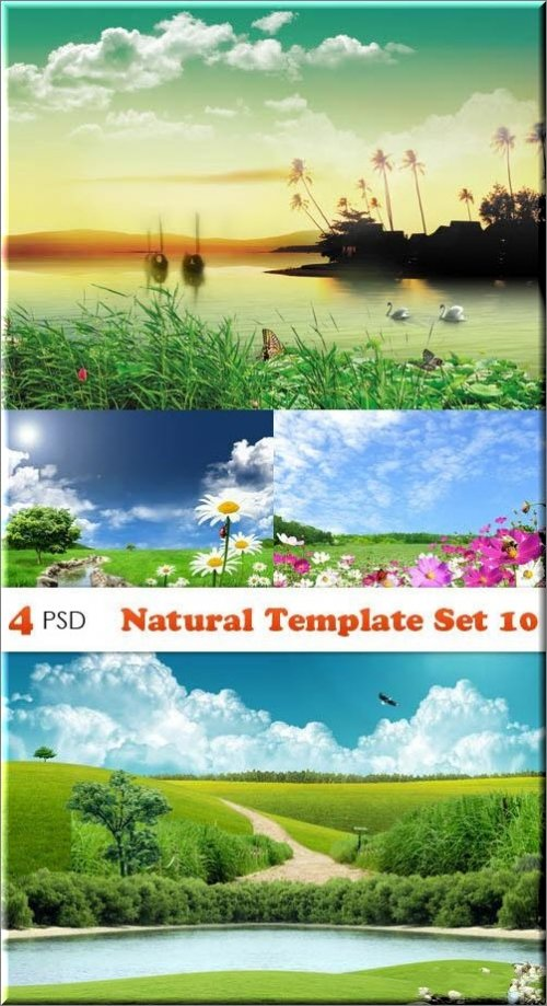 PSD - Natural Template Set 10