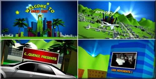 After Effects Project Videohive -  Cartoon Star City