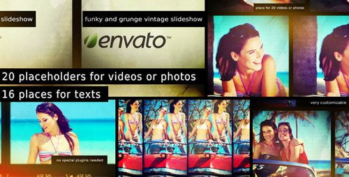Funky and Grunge Vintage Slideshow - Project for After Effects (Videohive)