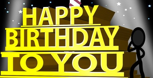 Happy Birthday Ecard - Inkman - Project for After Effects (Videohive)
