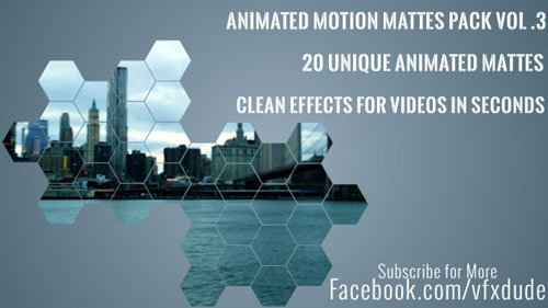 VIDEOHIVE Clean Animated Motion Mattes Pack 3