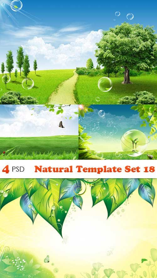 PSD исходники - Natural Template Set 18