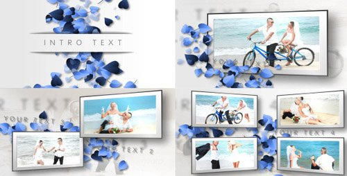 Hearts, Clean Wedding Slideshow - Project for After Effects (Videohive)