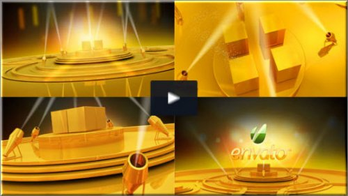 After Effects Project Videohive - Gold stage