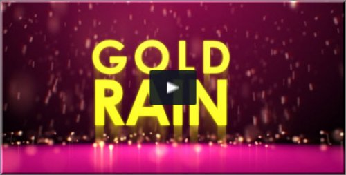 After Effects Project Videohive - Gold rain