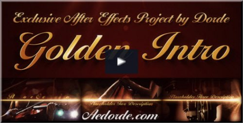 After Effects Project Videohive - Golden Intro