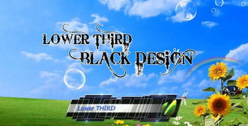 Lower Third Black Design - Project for After Effects (Videohive)