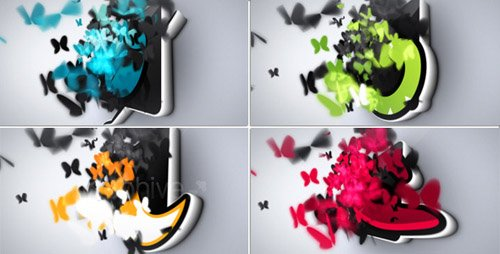 Butterflies Logo Reveal - Project for After Effects (Videohive)