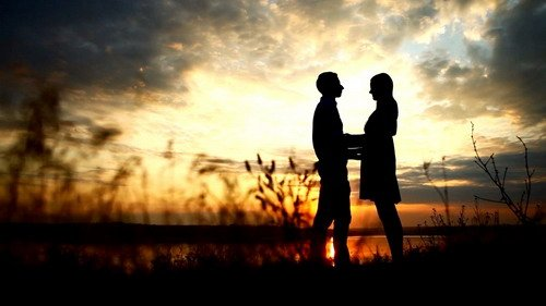 loving couple at sunset - Footage (Shutterstock)