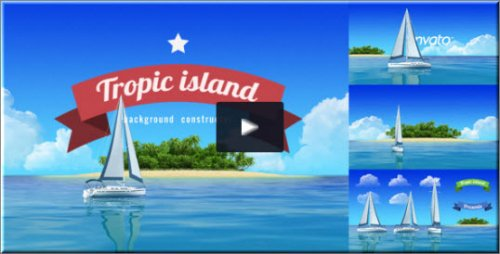 After Effects Project - Yacht Sailing Island Travel Intro