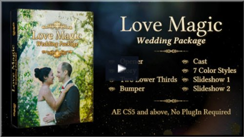 After Effects Project - Love Magic Wedding Package