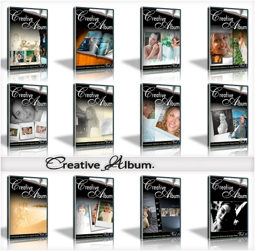 Creative Album Templates, Wedding 12 Series FULL!