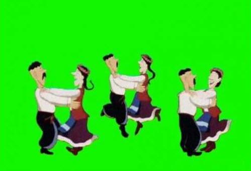 футаж на хромакее - Танцы