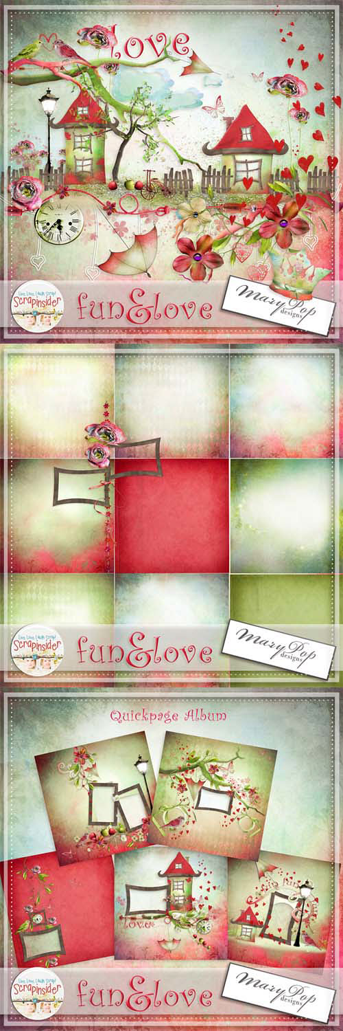 Scrap Set - Fun & Love PNG and JPG Files