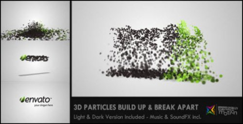 After Effects Project - 3D Particles Logo Build Up & Break Apart Intro