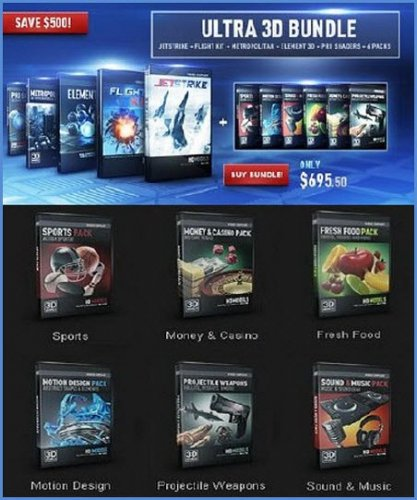 Video Copilot – Element 3D 1.6.2 (Ultra 3D Bundle) x86+x64 (2013) Eng