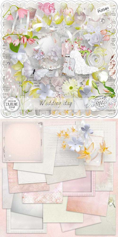 Scrap Set - Wedding Day PNG and JPG Files