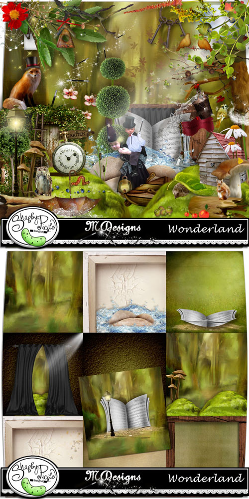 Scrap Kit - Wonderland PNG and JPG Files