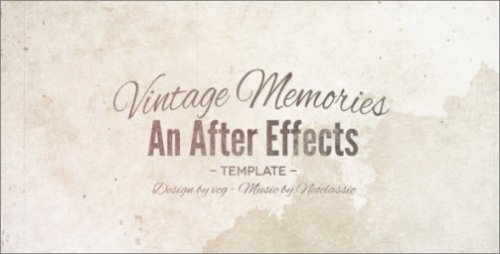 After Effects Project - Vintage Memories