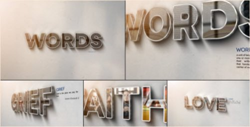 After Effects Project -  Words