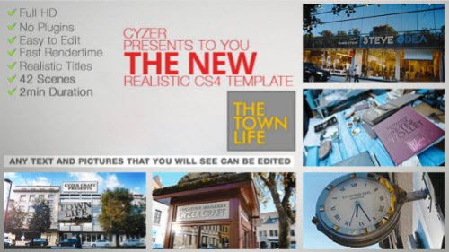 Videohive  Town Life Intro Promotion - TV Series Opener