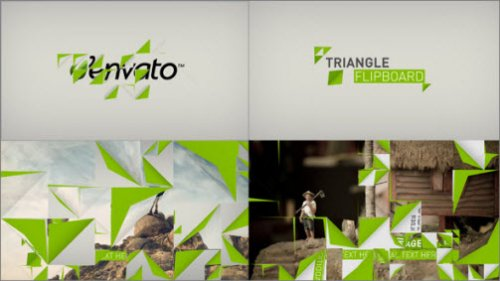 After Effects Project - Triangle Flipboard