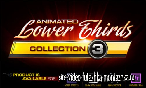 Digital Juice Animated Lower Thirds Collection 3 .AEP FILES