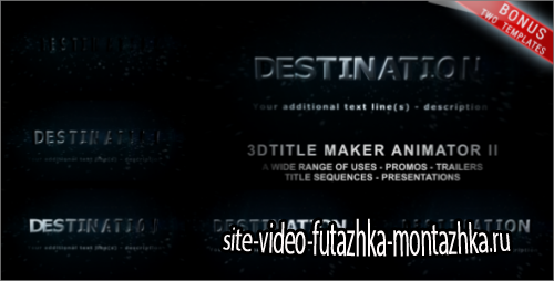 After Effects Project - 3D Title Maker Animator II