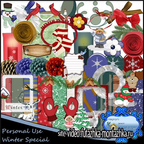 Scrap Kit - Winter Special PNG and JPG Files