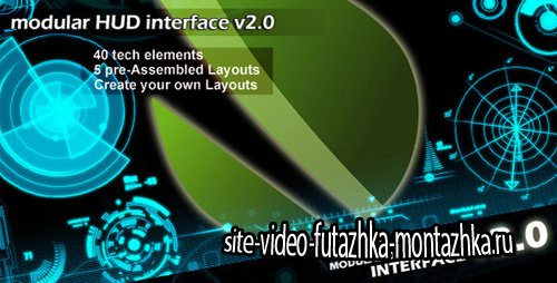 Modular HUD Interface v 2.0 - Project for After Effects (Videohive)