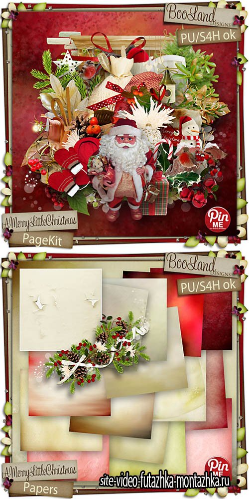 Scrap - A Merry Little Christmas Set PNG and JPG Files