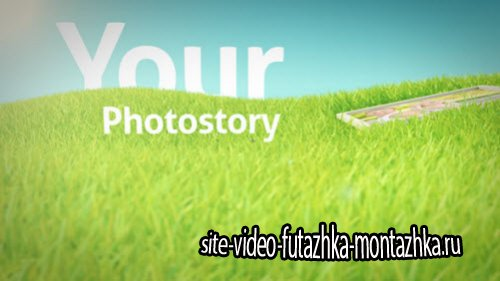 After Effect Project - Photos On Grass