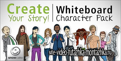 Videohive - Create Your Story Whiteboard Character Pack