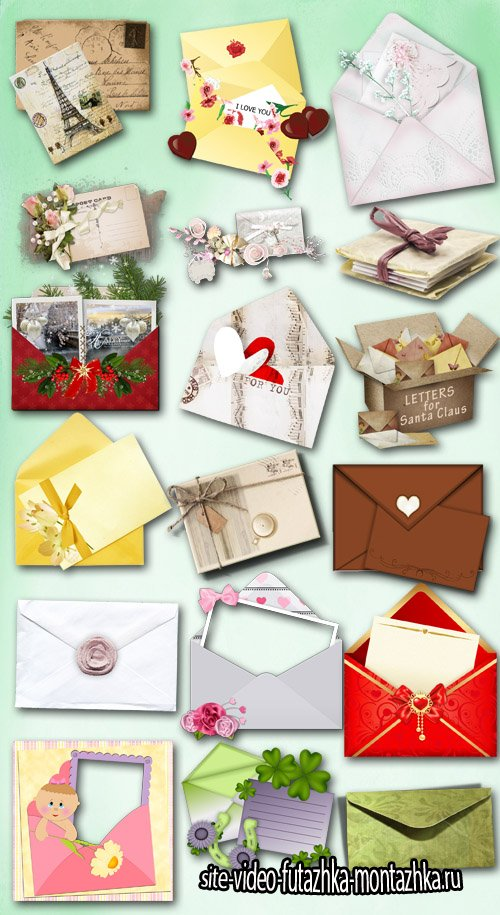 Envelopes and Postcards PNG Files