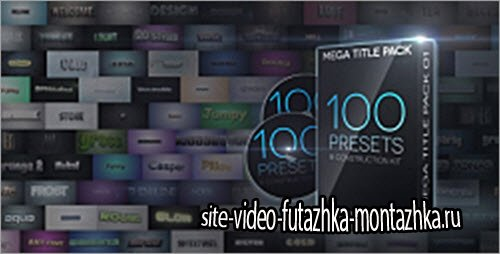 VideoHive: Mega Title Pack 01: 100 in 1 & Construction Kit (AE-Project)