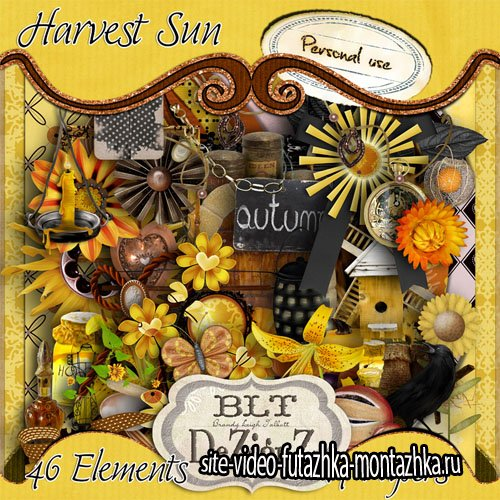 Scrap - Harvest Sun Kit PNG and JPG Files