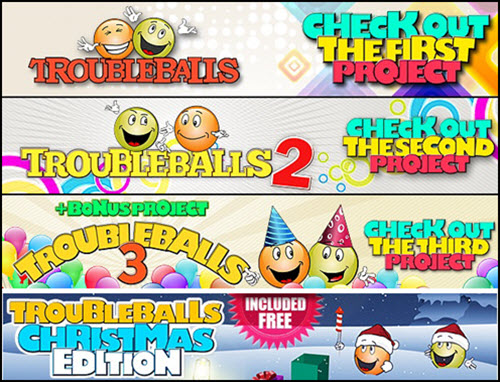 Troubleballs 1,2,3 + Christmas Edition - (VideoHive®)